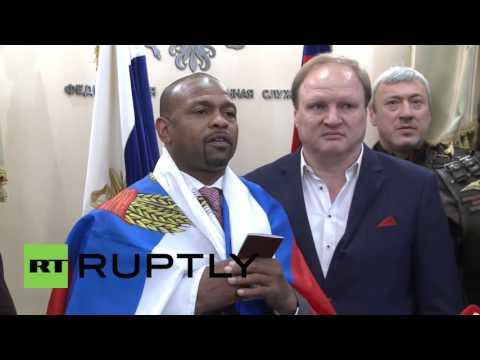 Russia: 'Thanks, Mr. Putin' - Roy Jones Jr. handed Russian passport in Moscow