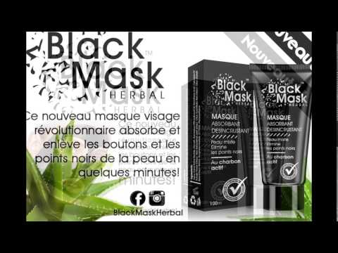 new masque visage au charbon actifs black mask herbal. Black Bedroom Furniture Sets. Home Design Ideas