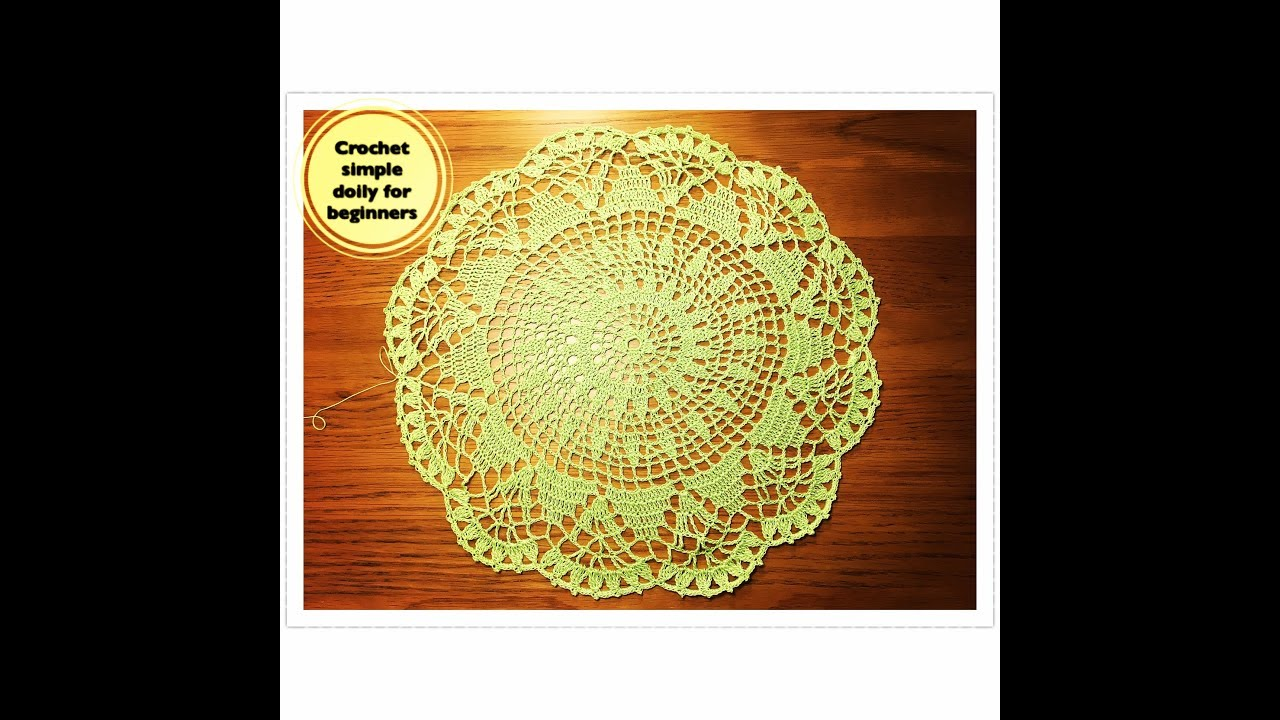 How to crochet simple doily for beginners project 1 youtube how to crochet simple doily for beginners project 1 bankloansurffo Gallery