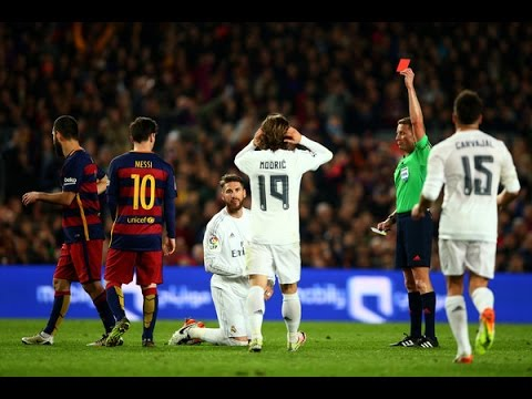 Sergio Ramos all 4 red cards vs Barcelona