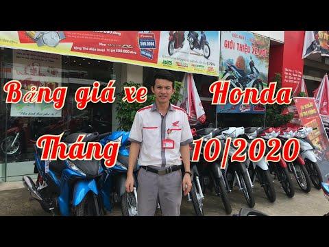 BẢNG GIÁ XE HONDA ĐẦU THÁNG 10/2020 mới nhất    ducanh1005