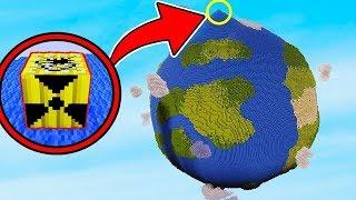 PLANETA TERRA VS BOMBA NUCLEAR NO MINECRAFT!! SOBREVIVEMOS A RADIAÇÃO ?