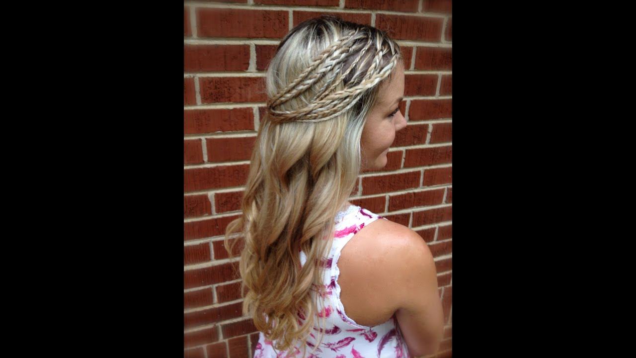 hippie braids & curls