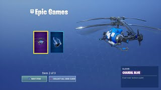 How To Get Coaxial Glider, Blue Fusion PS Plus Pack Free (Fortnite: Battle Royale)