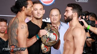 Bellator 160- Ben Henderson vs. Patricio Pitbull Complete Weigh In & Face Off Video