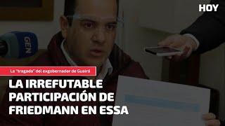 """La """"tragada"""" del exgobernador de Guairá: La irrefutable participación de Friedmann en Essa"""