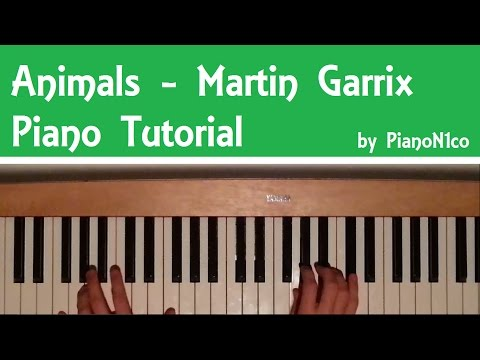 How to play Animals by Martin Garrix on Piano - Tutorial [HD]