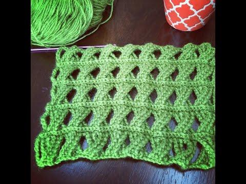 Crochet Pattern – Cable Crochet Stitch – Tunisian Crochet