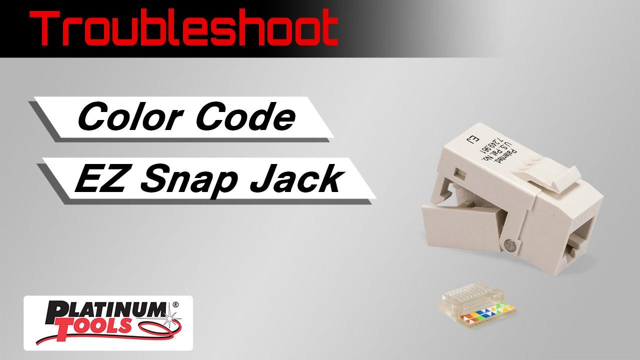 Troubleshoot Color Code Ez Snap Jack Youtube T568b Wiring Scheme