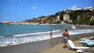 пляж Альмирида, область Ханья, Западный Крит.(Небольшой шторм после ветров