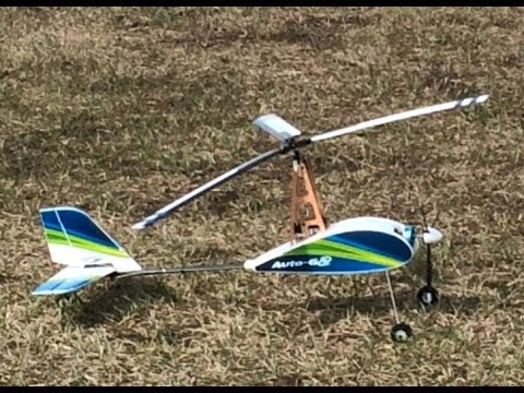 Hobby King Dura fly Auto G Gyrocopter 821mm Maiden and Crash by P Crane