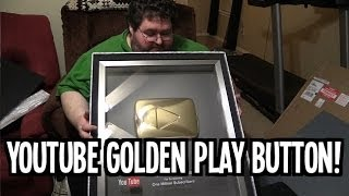 Golden Youtube Play Button! Thanks! Boogie / Francis