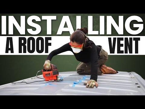 CONVERTING MY VAN (Installing a Roof Vent)