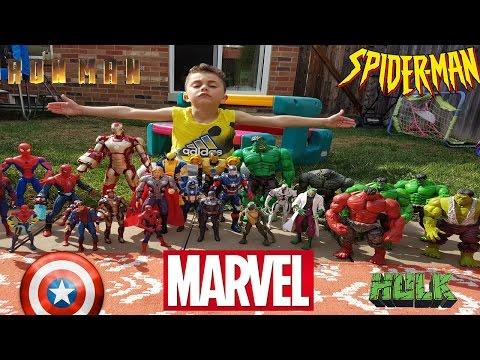 Superhero Toys Hulk Spider-man Iron-Man Thor X-Man Captain America