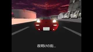 ベイサイドを疾走するユーノスロードスター ポートタワーや神戸大橋や明...