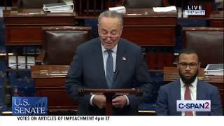 U.S. Senate: Debate on Articles of Impeachment & FINAL VOTE