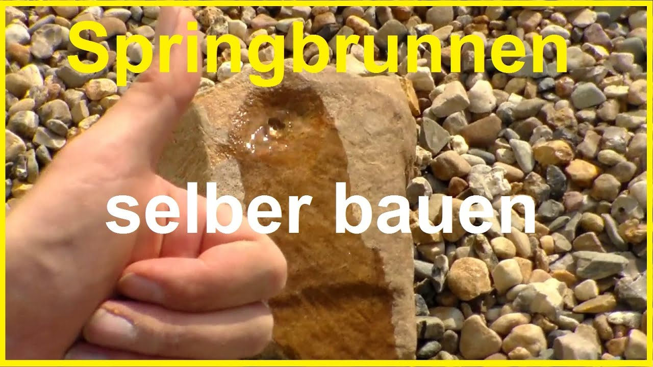 Gartenbrunnen Selber Bauen   Brunnen Selber Bauen   Wasserspiel Selber  Machen Springbrunnen   YouTube