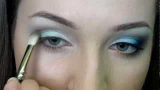 Синий цвет в дневном макияже /// Макияж для голубых глаз