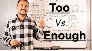 Cómo Usar TOO & ENOUGH en INGLES (Fácil Explicación)