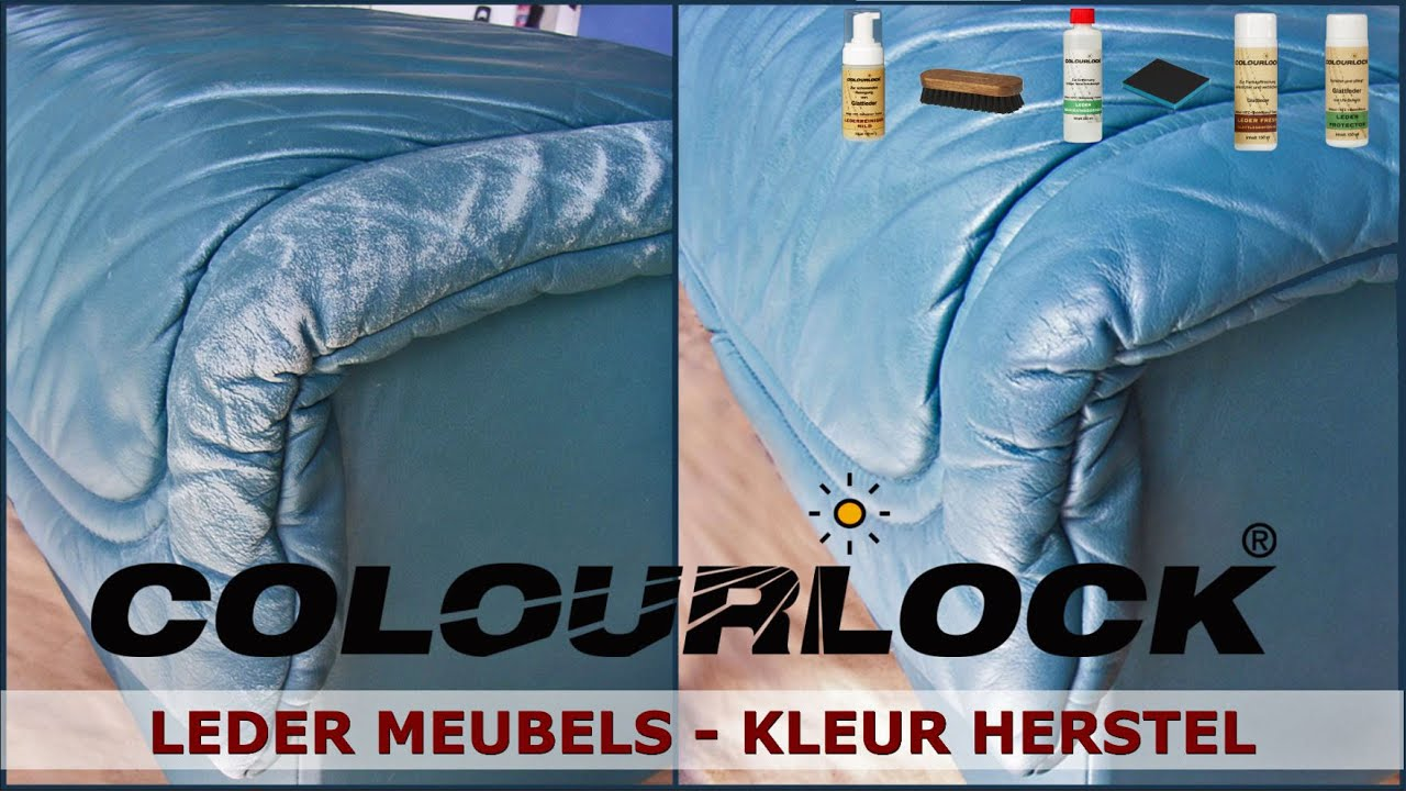 Leren Bank Herstellen.Leder Meubels Kleur Herstel Www Colourlock Nl Youtube