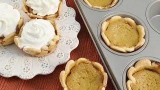 Muffin Tin Pumpkin Pie Recipe - Bite-size Thanksgiving Pie | Radacutlery.com