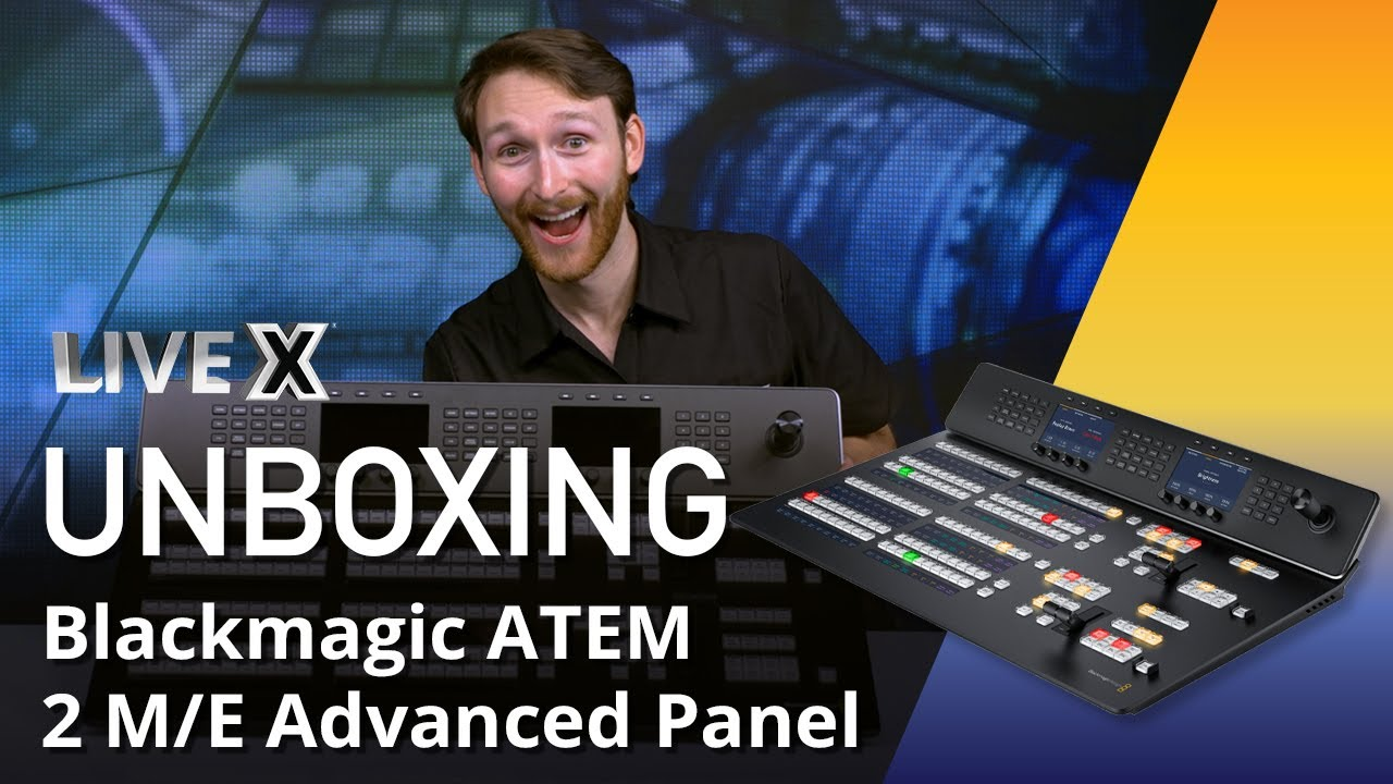 Unboxing Blackmagic Atem 2 M E Advanced Panel Youtube