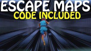 TOP 5 * BEST * ESCAPE MAZE curso de obstáculos mapas em FORTNITE CREATIVE (com códigos)