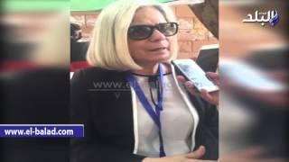 بالفيديو والصور.. رئيسة بعثة جامعة الدول العربية تدلى بصوتها بالدقى