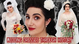 Download lagu I Tried Wedding Dresses Through History