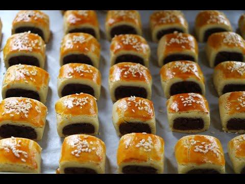【零食壹口酥】用自制豆沙餡做的小零食,香甜酥脆,咬壹口就愛上了!