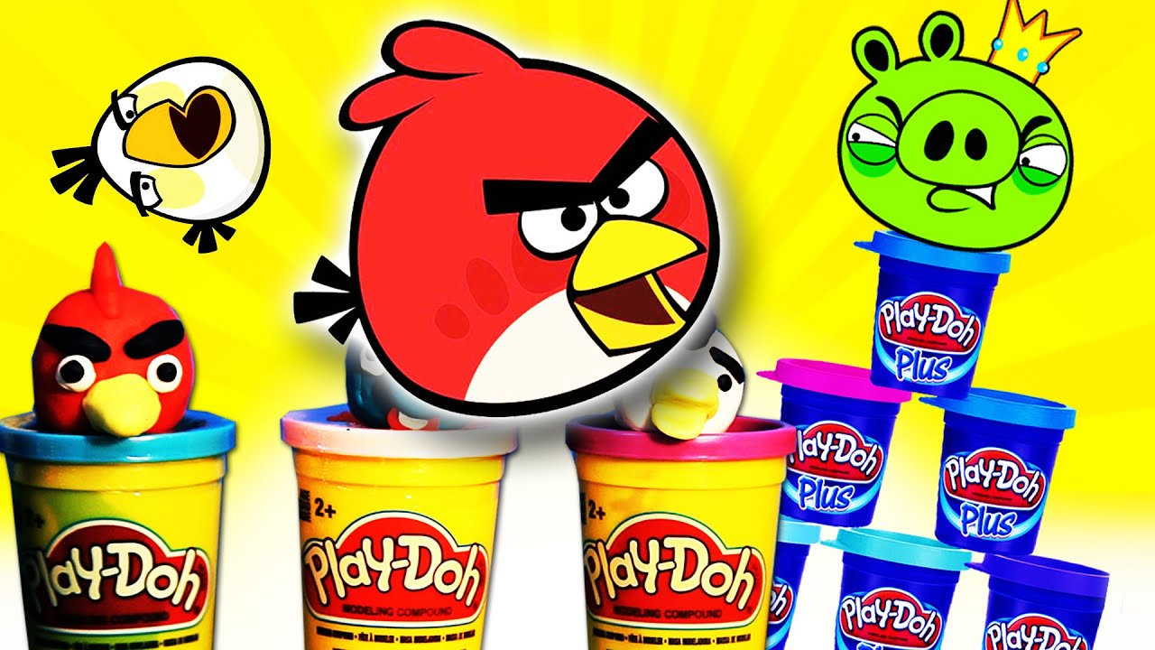 play doh angry birds new rovio youtube video for kids epic supercool4kids full hd playdoh. Black Bedroom Furniture Sets. Home Design Ideas