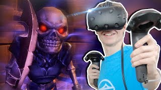 DUNGEON CRAWLER WITH CLIMBEY PHYSICS!  | VR Dungeon Knight (HTC Vive Gameplay) Ep 1