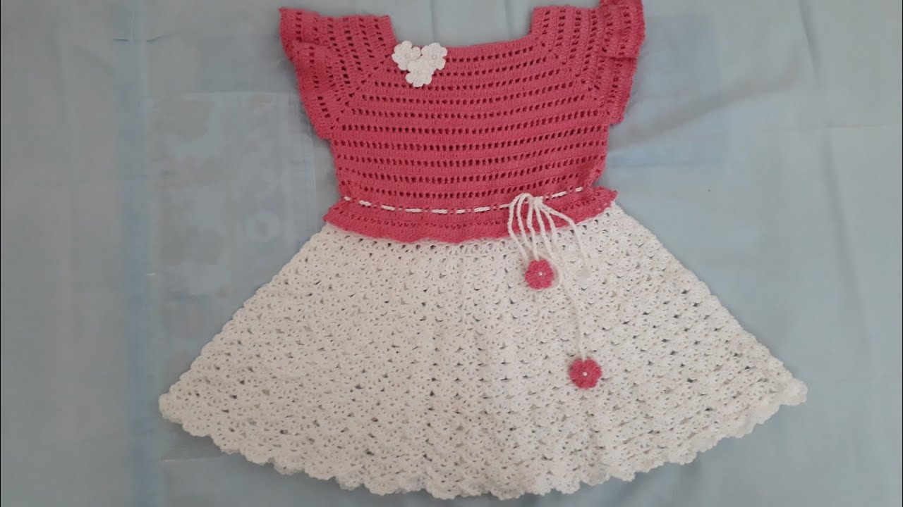 a3d7d07b213c Vestido de crochê pra menina de 2 a 3 anos - YouTube