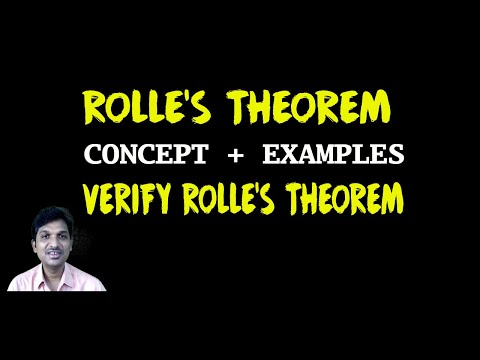 ROLLES THEOREM ( CONCEPT + EXAMPLES )