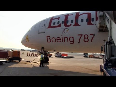 Ethiopian B787 Business Class Flight From Rome to Milan