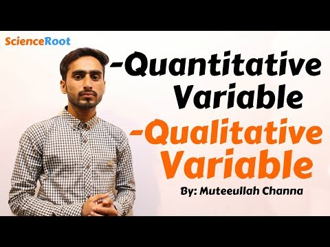 Types of Variables   Hindi   Qualitative & Quantitative variables   ScienceRoot