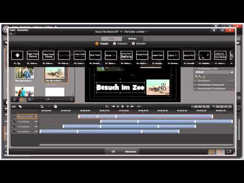 Titel animieren in Pinnacle Studio 16 und 17 Video 59 von 114
