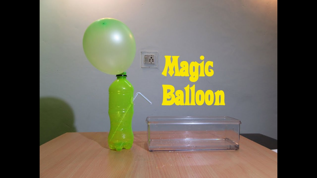 Balloon Magic (Physics Experiment) - Easy Tutorials - YouTube