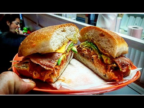UNBELIEVABLE!!! DELICIOUS MEXICAN TORTAS!! STREET FOOD WITH TONS OF FLAVOUR!! GUAMUCHIL, SINALOA!!