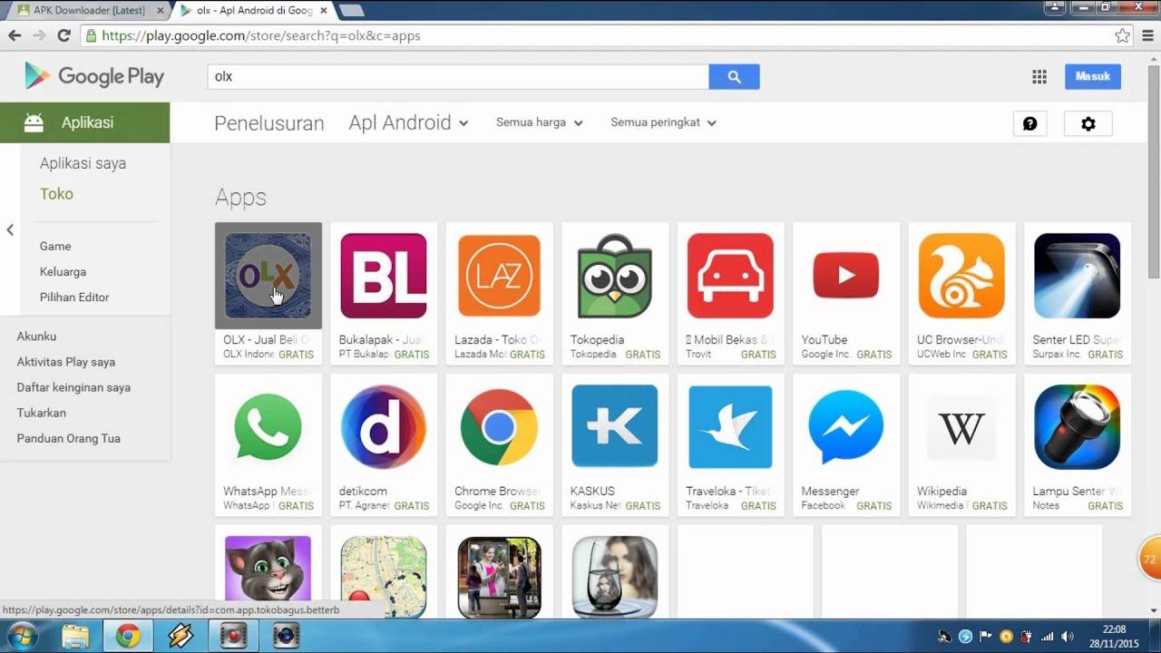cara download apk android dari pc