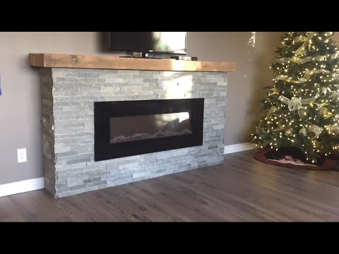 Weekend DIY Fireplace Build - ELECTRIC Fireplace Time Lapse