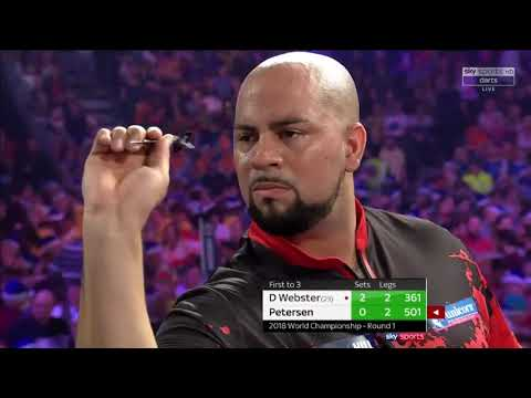 D Webster vs Petersen. World Darts Championship.