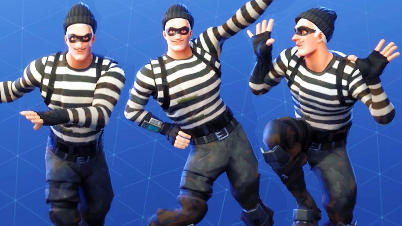 fortnite scoundrel performs all dances all season 1 4 dance emotes jailbird gear - fortnite scoundrel