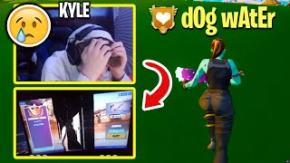 Everyone CONCERNED After Piece Control KYLE TEARS UP Then PUNCHES Monitor After This 1v1! (Fortnite)