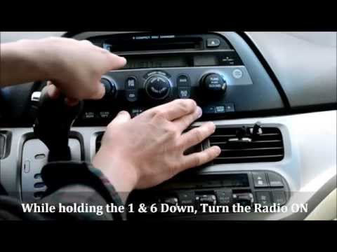 Honda Odyssey Radio Code Reset (How to Unlock a 'locked' radio)