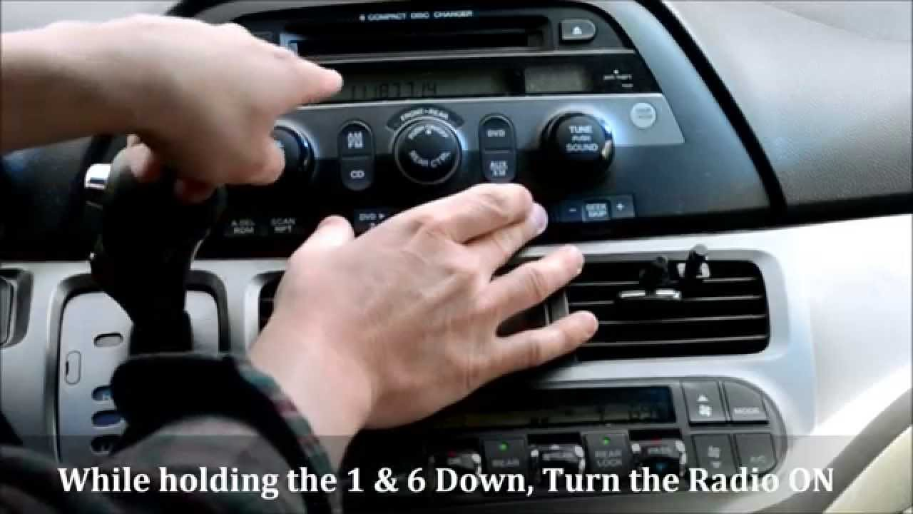 medium resolution of honda odyssey radio code reset how to unlock a locked radio youtube