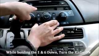 Honda Odyssey Radio Code Reset (How to Unlock a