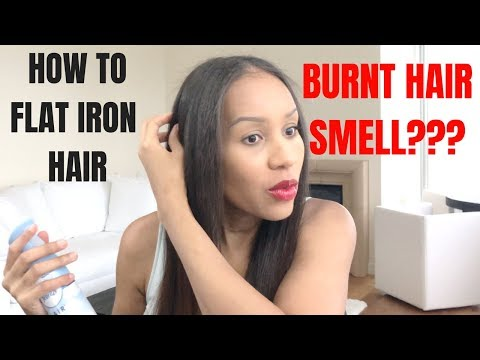 HOW TO   Flat Iron Hair and Mask Burnt Hair Smell