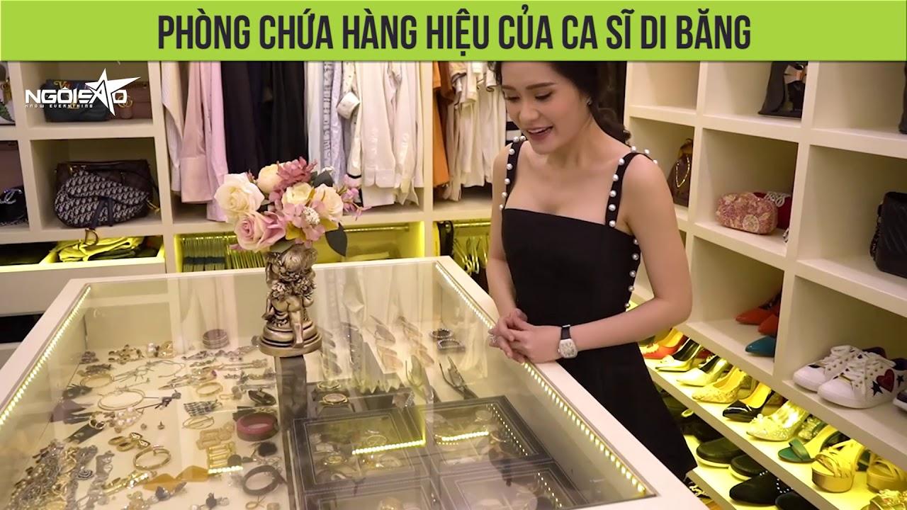 Phòng chứa hàng hiệu khoá bằng vân tay của ca sĩ Di Băng