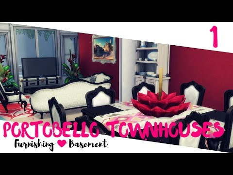 The Sims 4 House Building - Google Replicate #2 - Portobello Townhouses - Furnishing - Basement